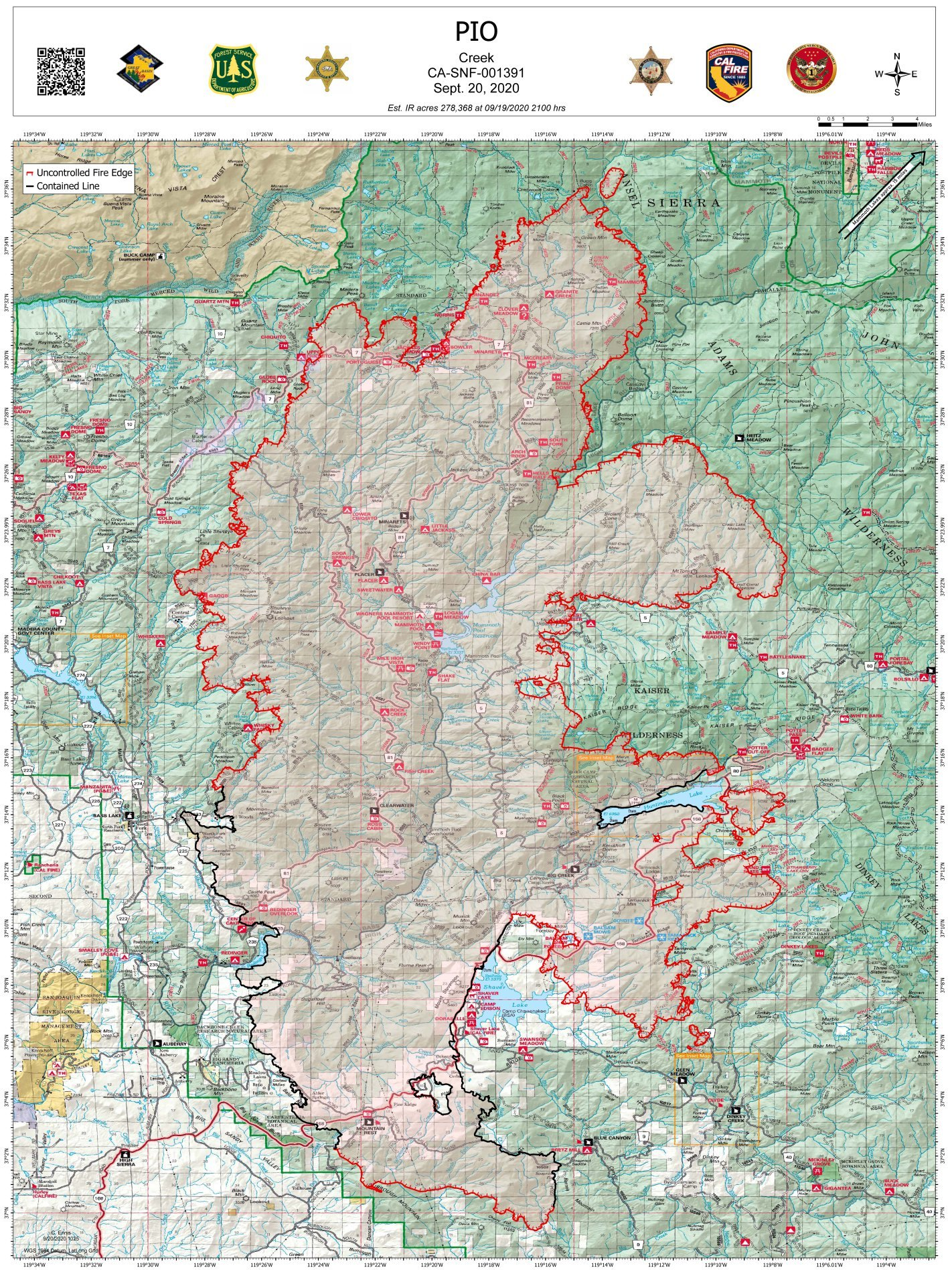 Creek Fire update 9/20